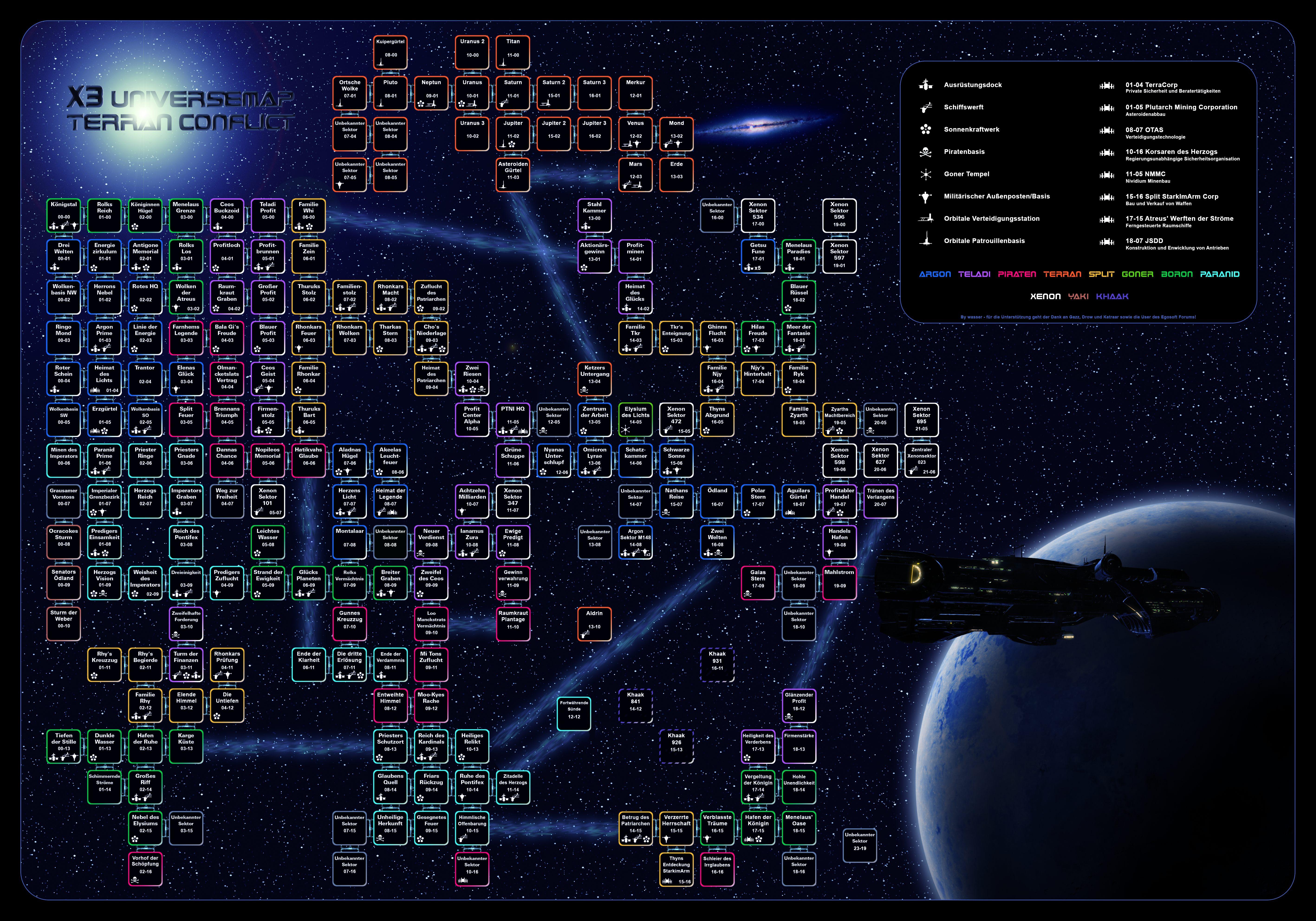x3 albion prelude karte Seizewell Message Board • Thema anzeigen   X3TC Sektorkarten